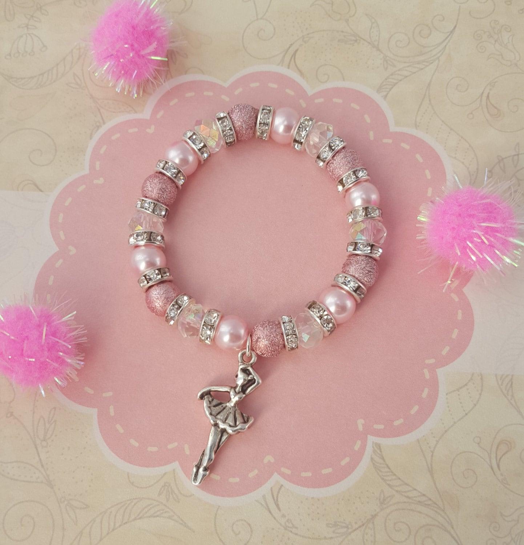 Ballet Charm Bracelet: Ballerina Bracelet Kids Bracelet Crystal Jewellery Ballet