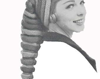 Vintage 1950's Knit Hat Pattern