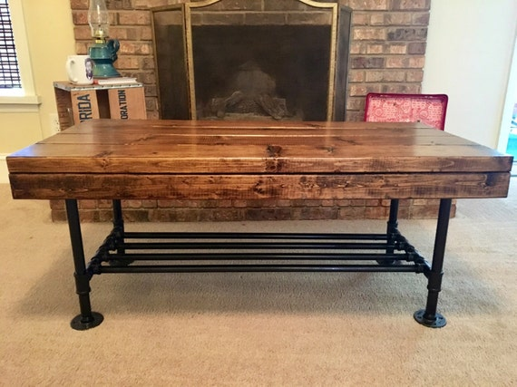 Items similar to rustic coffee table pipe legs for Industrial farmhouse coffee table