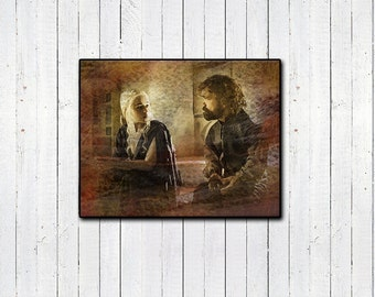 GAME OF THRONES ** Danerys and Tyrion **11x14in Watercolor Print, House Targaryen, Tyrion Lannister, Blood of the Dragon, Emilia Clarke