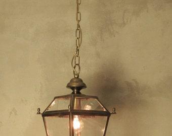 Vintage Italian Brass Pendant Lamp Handmade Lantern