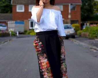 Off Shoulder Top With Ruffle Sleeve