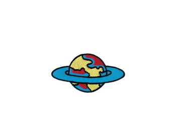 Saturn Patch -  Saturn Embroidered Iron on Patch -  Saturn Iron on Applique