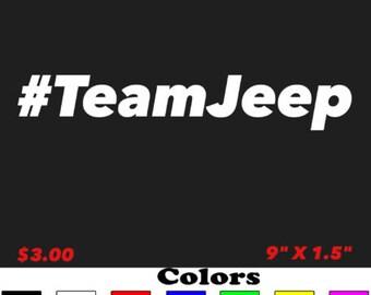 Team Jeep Decal