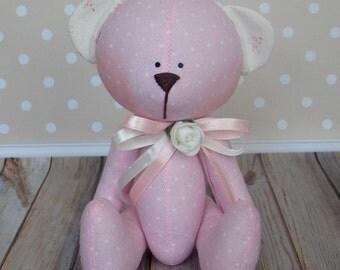 little bear-textile bear-Handmade toys-Fabric toys-Rag toys-Home Decoration toys