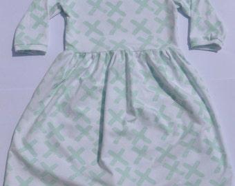 Mint Brushstrokes Dress
