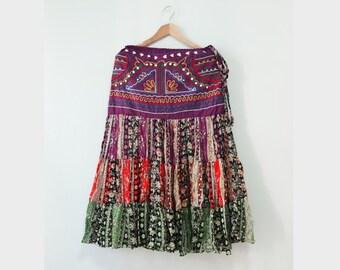 Printed maxi skirt | Etsy