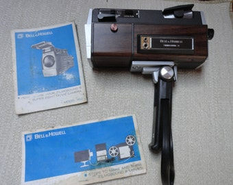 Bell and Howell 442 Filmsound 8 Movie Camera with  2 Manuals