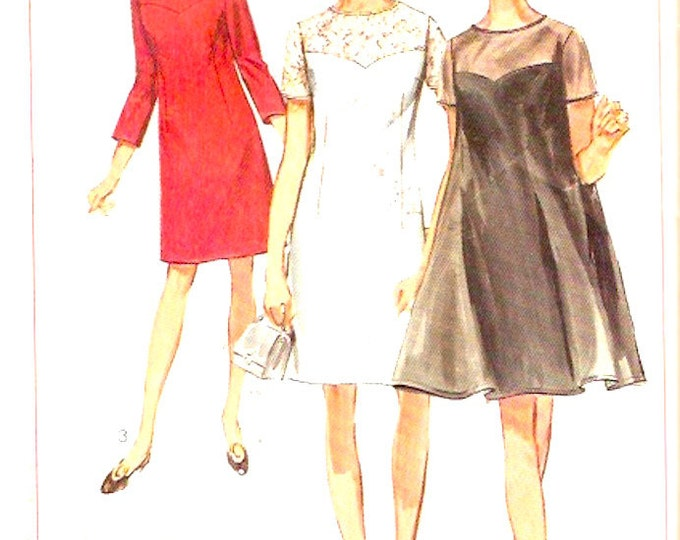 60s Tent dress mod retro bridesmaid cocktail dress vintage sewing pattern McCalls 7861 Bust 39 half size