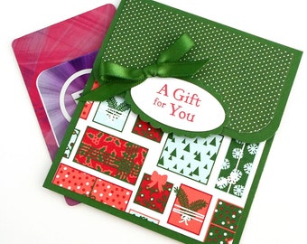 Christmas Gift Card Holder, Holiday Tip Envelope, Christmas Money Card, Teacher Christmas Gift, Coach Christmas Gift, Money Envelope