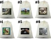 12 Jurassic World Dinosaur  Birthday Party Favor Candy Loot Treat Drawstring Bags