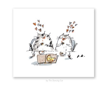 Pizza Cats - Pizza Cat Lover - Funny Cat Art