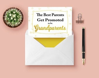The Best Parents,Pregnancy Announcements,New Grandparents Cards,DIGITAL, YOU PRINT, Cards for New Grandparents, New Grandparent Cards