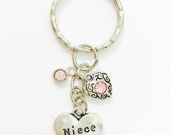 Special Wedding Gifts For Niece : Keychain, Niece Gift, Gift for Niece, Niece Jewelry, New Niece Gift ...