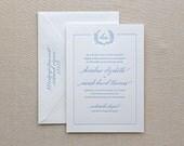 Letterpress Wedding Invitation - Jardin Design - Calligraphy,Traditional, Elegant, Simple, Classic, Script, Custom, Rustic, Destination