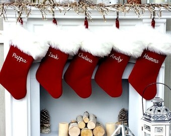 stocking factory personalized with love for you by eugenie2 On how to put names on furry christmas stockings