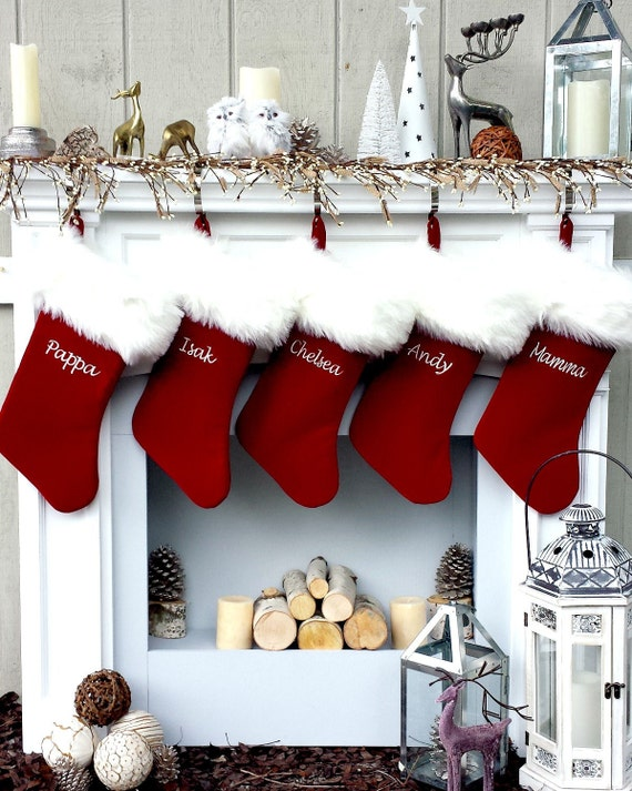 Personalized Christmas Stockings Velvet 19 with Luxury