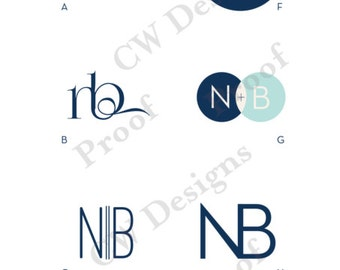 Modern Monogram - Wedding logo - Wedding Monogram - Wedding Stationary
