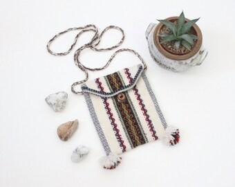 woven alpaca cross body handbag