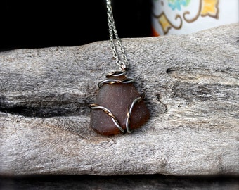 Sea Glass Jewelry from Hawaii by Mermaid Tears - Ocean Inspired Hawaii Jewelry - Sea Glass Necklace - Hawaiian Jewelry Hawaii Beach Necklace