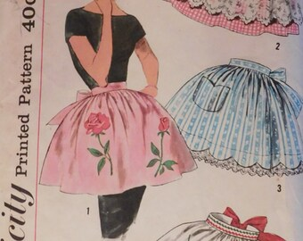 Simplicity Pattern 3706 Misses' and Women's Set of Aprons Uncut and Complete