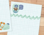 Ahoy There - A5 Stationery - 12, 24 or 48 sheets