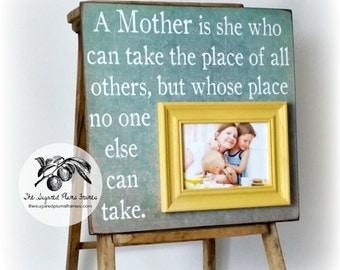 Mothers Day Gift, A Mother is She, Grandma Gift Frame, Grandparents Day, Grandmother, Nana 16x16 Personalized Picture Frame