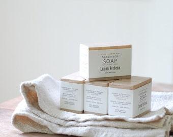 4 BARS OF SOAP - Ellie's Handmade Soap - 100% Natural + Cold Process Olive Oil Soap