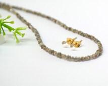 Raw Diamond Earrings, 14K Gold Stud Earrings ,Rough Diamond Earrings, Raw Diamond, Uncut Gray Diamond Earrings, April Birthstone