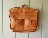 Vintage dbrozzi Tanned Hyde Genuine Leather Garment Travel Bag Classic Tote Suit Carrier Carry On Overnighter Overnight Bag Weekender Dress