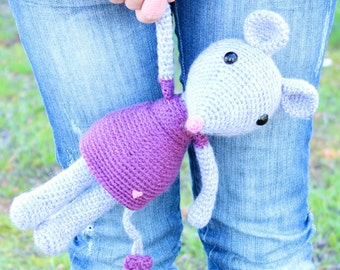 Crochet pattern - Mia, the cute mouse by Tremendu - amigurumi crochet toy, PDF digital pattern