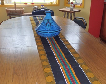 African Print Table Runner, African Table Runner, Kente Table Runner, Striped Table Runner, Kwanzaa Table Runner, Choose Size