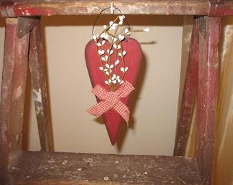 Wood Heart Primitive