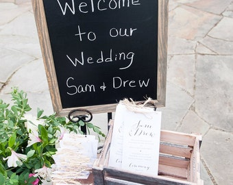 Wedding Program, Printable Wedding Program, DIY Program, Rustic Wedding, Custom Program, Wedding Ceremony Program, Program Wording