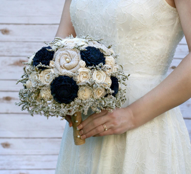 Fresh wedding flowers rustic wedding navy wedding bouquet rustic navy blue dried flower bridal fresh wedding flowers rustic izmirmasajfo