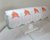 Headband Holder - Headband Organizer on Stand- Coral and Teal Arrows Fabric by Everlastings By Sue