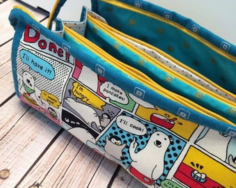 Zippered Storage Bag - Zippered Pouch - Carry All Travel Pouch - Sew Together Bag