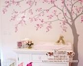 cherry blossom wall decal wall decals flower vinyl wall decals  wall muralwall sticker nursery- flower tree Z705 cuma