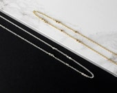 LOVED Morse Code Romantic Necklace Gold Love Necklace Station Necklace Dainty Gold Necklace