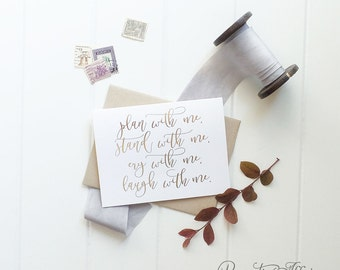 """Will You Be My Bridesmaid Card Set - Gold Foil Will You Be My Junior Bridesmaid, Maid Of Honor, Rose Gold, Silver, Copper, Gold """"Energetic"""""""