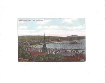 1920s Vintage Color Tinted Photo Postcard of Weston-super-Mare from Encampment, England, UNPOSTED, Coulsting's Series, Vintage Postcard
