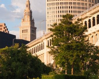 Fine Art Photography // Terminal Tower, Cleveland, Ohio Skyline // Giclée Print
