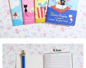 Kawaii Animal Notebooks - notebook, kawaii cat, note pad, jotter book, diary, mini notebook