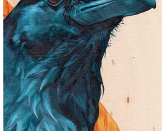 Print or Note Card: Raven