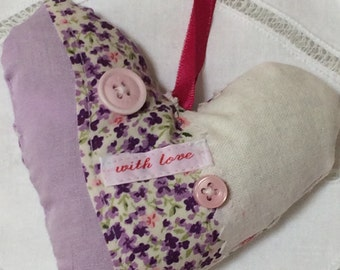 Fabric Lavender Heart