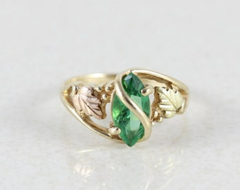 black gold ring emerald etsy nz