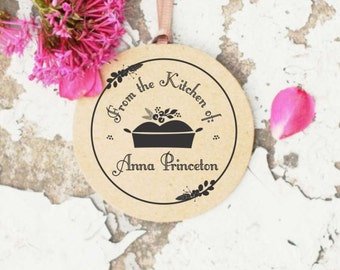 From the Kitchen of Stamp, Cooking Rubber Stamp, Made by Stamp, Baking Stamp, Self inking Kitchen Stamp, Christmas Gift for Cook - 10226