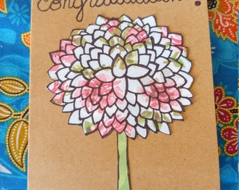 Congratulations Flower Burst 1 Card