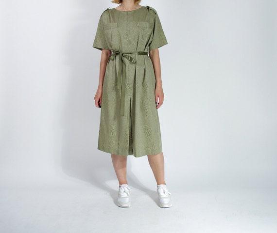 SALE! 70s Atelier Goldner Schnitt oversized safari style dress