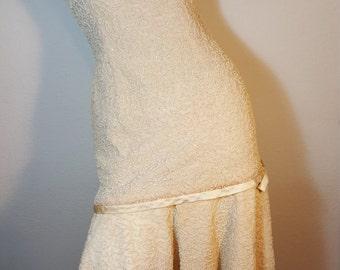 FREE  SHIPPING  Vintage 1950 Wool Beaded Dress